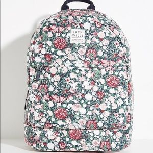 Jack Wills Floral Backpack With Laptop Sleeve